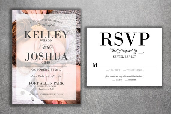 Discount Photo Wedding Invitations: Affordable Photo Wedding Invitations Set Printed Cheap