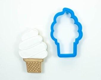 Ice Cream Cone Cookie Cutter (Soft Serve)