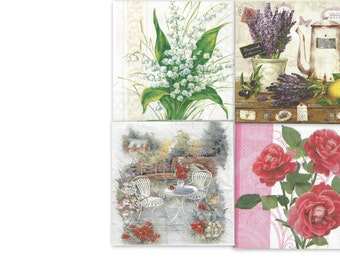 decoupage napkins set of 4