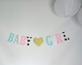 Baby Girl banner, It's a girl, Baby girl, Party banner, Party decor, Baby shower decorations, Baby shower, Oh baby, custom banner, welcome