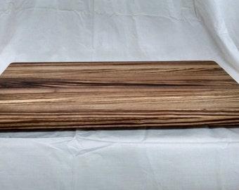 Zebrawood cutting board/ bread board