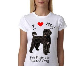 Portuguese Water Dog Shirt - I Heart my Portuguese Water Dog shirt - Portuguese Water Dog gift