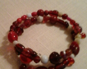 I'm Seeing Red beaded bracelet