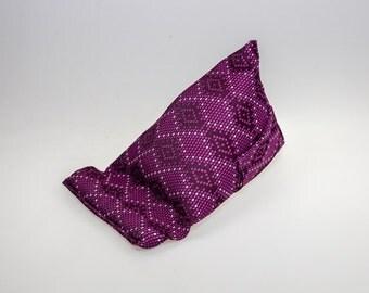 Purple Geometric Fabric (Large) Tablet - Kindle - Ipad - Mobile  Stand