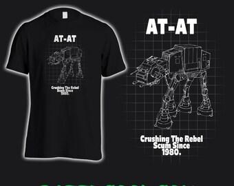 Super Cool Star Wars AT-AT T-Shirt, Star Wars fan gift idea, boyfriend gift, star wars fan birthday present idea