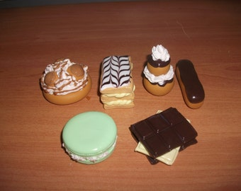 Pastries in fimo for decoration