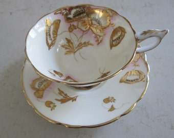 Royal Stafford Gold Tea Cup and Saucer