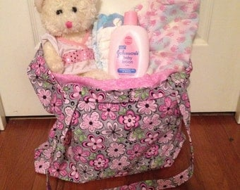 Cotton diaper tote