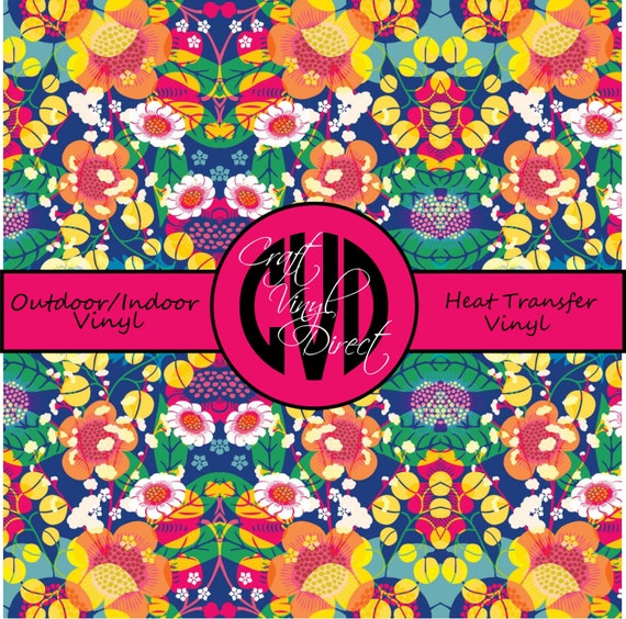 Beautiful, Vibrant Patterned Craft Vinyl and Heat Transfer Vinyl in Pattern 405