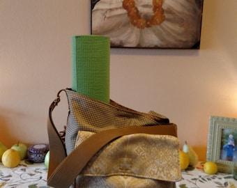 The Recycled Buddha, Eco Conscious, Handmade, One of a Kind, Large Purse, Yoga Sack