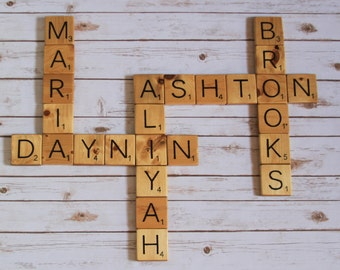 Large Scrabble Wall Art Tiles
