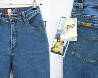 vintage JORDACHE jeans stretch NWT high waist 80s 90s skinny jeans comfortable blue womens flattering perfect fit mom jeans size 6 / S - M