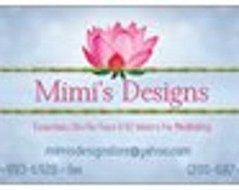 Mimi's Designs business card