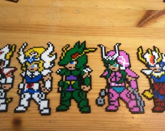 Knights of the Zodiac Pixel Art beads mini Hama