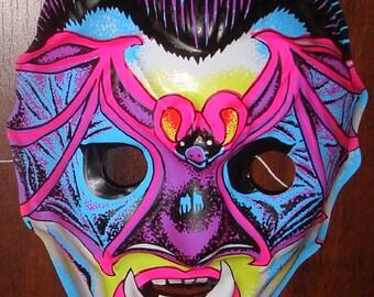 Vintage Vampire Bat Halloween Mask - Ben Cooper / Collegeville type - Dracula