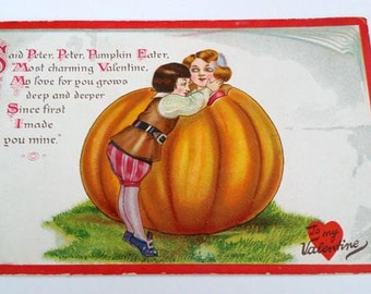 Vintage Valentine Postcard Early 1900's Epherma Tuck's Little Nursery Lovers