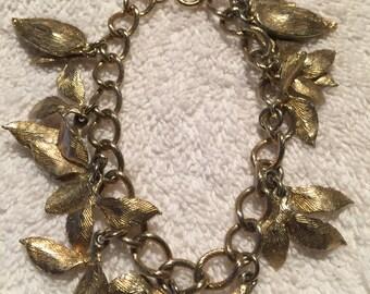 Gold Leaf Bracelet #12491
