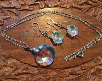 Krystal Necklace & Earrings #12466