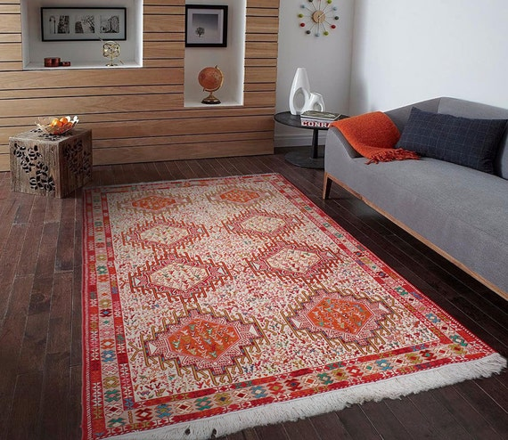 4' X 6'5 Pure Silk Kilim Area Rug Highest Quality By