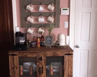 Farmhouse Style Bar/Coffee Bar