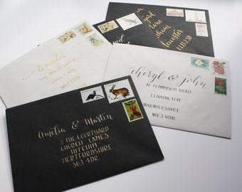 Handwritten Modern Calligraphy Envelopes