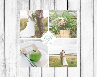 Gift Certificate Marketing Template Mini Sessions 5 X Card Photographers