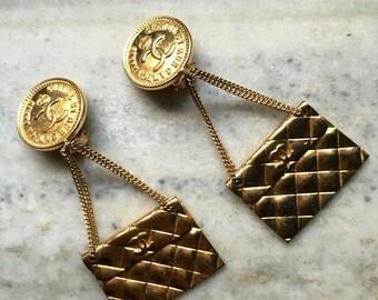 Chanel 2.55 bag earrings