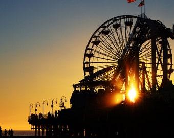 Silhouette Santa Monica Pier