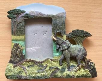 Vintage Elephant Picture Frame