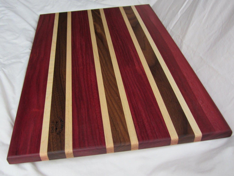 Cutting Board Beautiful Exotic Natural Wood Kitchen Gift