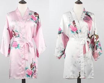 White Cotton Robe, Floral Silk Robe ,Free Size Bath Robe, Dressing Gown For Women, Kimono Satin Robes, Bath Towel ,Robe Shopping Dressing