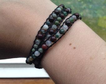 Small beaded wrap bracelet