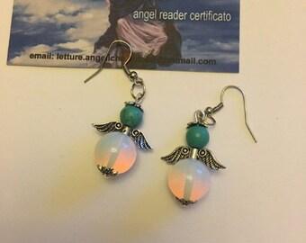 Stone Angel earrings