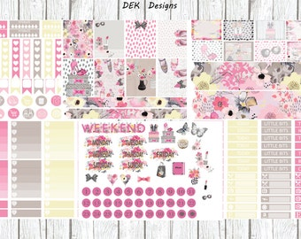 Floral Fashion Weekly Sticker Kit, choose your planner style