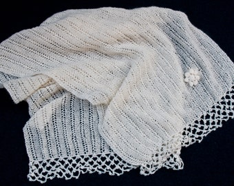 Cashmere and mohair scarf