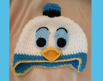 Crochet Donald Duck Hat.Girl or Boy crochet  baby hat. Crochet baby hat. Cute Easter crochet hat. Crochet hat.Photo Prop.Baby Shower Gift.