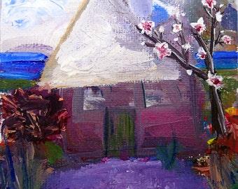 Village house ORIGINAL Oil paint