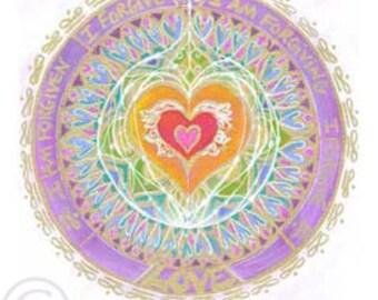 Forgiveness- Heart, Giclee Art Print by Beth Budesheim, 12x12 Matted Size