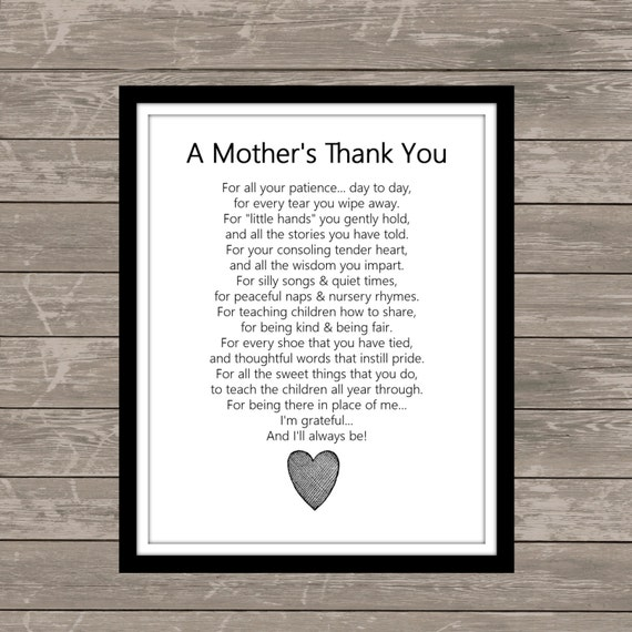 A Mother S Thank You Poem Deal Of The Week Next 10 Who
