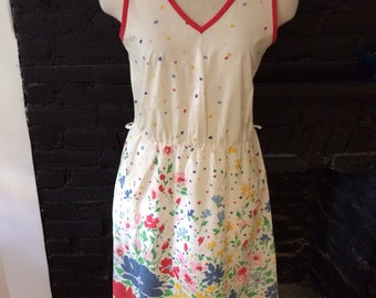 Cute Vintage floral sleeveless dress- small