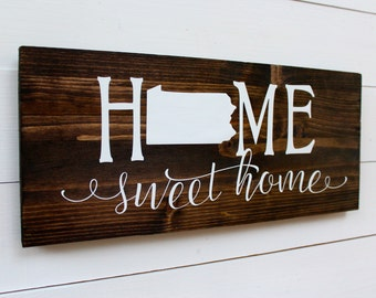 Home Sweet Home Pennsylvania Rustic Wooden Entryway Sign | Housewarming | Entryway | Welcome Sign | Rustic Sign | Gift under 25 | Wall Decor