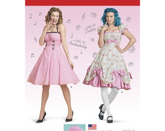 Sewing Pattern for Misses Lolita Costume, Rockabilly Dress Costume, Simplicity Pattern 8127, Halloween Costume, Cosplay Costume, Plus Sizes