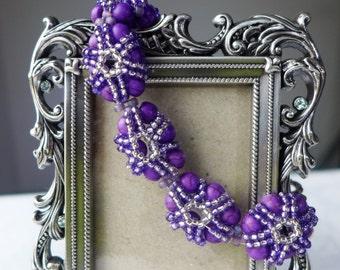 Turquoise Bracelet: Purple Turquoise beads