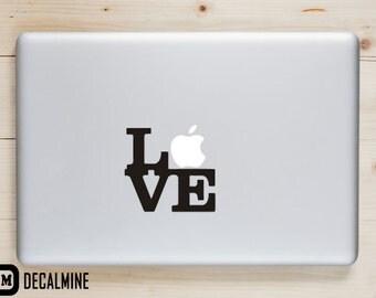 LOVE Designer MacBook Decal Removable Vinyl Sticker MacBook Pro Decal MacBook Air Sticker Macbook Decals Love Words MacBook Sticker