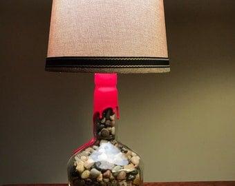 Cask Strength Makers Mark Bourbon Bottle Lamp
