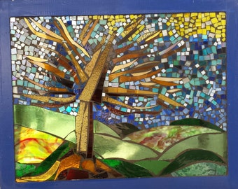 Tree of Knowledge, Stained Glass Mosaic