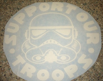 Support Our Troops Star Wars Decal