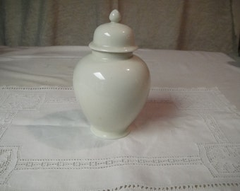 Small white ginger jar
