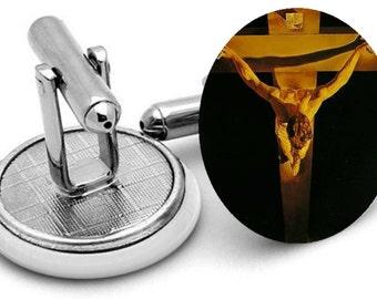 Christ of Saint John of the Cross mens  cuff links