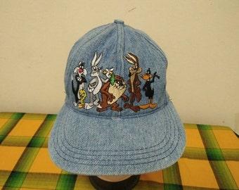 Rare Vintage WARNER BROS Cartoons Cap Hat Free size fit all for kids